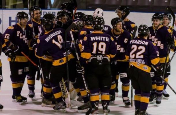 Gander Flyers Celebration   Newfoundland Hockey Talk